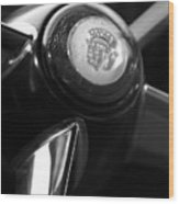 1947 Cadillac Steering Wheel Wood Print
