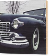 1947 Classic Lincoln Ragtop On Moody Day Wood Print