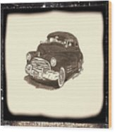 1947 Dodge Club Coupe - Antiqued Series Wood Print