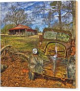 1947 Dodge Dump Truck Country Scene Art Wood Print