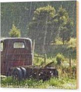 1947 Dodge Pickup Rain And Sun Wood Print