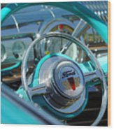 1947 Ford Deluxe Convertible Steering Wheel Wood Print