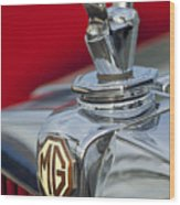 1947 Mg Tc Non-standard Hood Ornament Wood Print