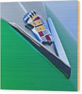 1948 Cadillac Emblem Wood Print