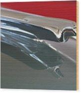1948 Cadillac Series 62 Hood Ornament Wood Print