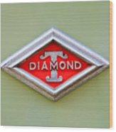 1948 Diamond T Emblem -ck0879c Wood Print