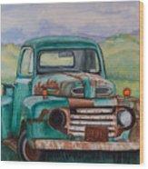 1948 Ford Pickup Rusty Gem  Wood Print