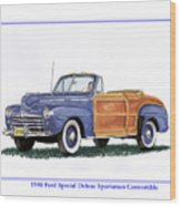 1948 Ford Sportsman Convertible Wood Print
