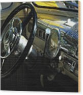 1948 Ford Super Deluxe Dash Wood Print