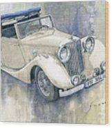 1948 Jaguar Mark Iv Dhc Wood Print