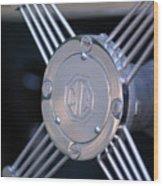 1948 Mg Tc Steering Wheel 2 Wood Print