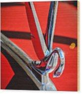 1948 Packard Hood Ornament 2 Wood Print by Jill Reger
