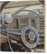 1948 Plymouth Deluxe Steering Wheel Wood Print