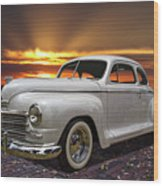 1948 Plymouth Two Door Coupe Wood Print