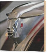 1948 Pontiac Streamliner Woody Wagon Hood Ornament 2 Wood Print