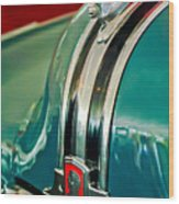 1948 Pontiac Streamliner Woody Wagon Hood Ornament Wood Print