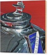 1948 Talbot-lago T26 Record Cabriolet Hood Ornament Wood Print