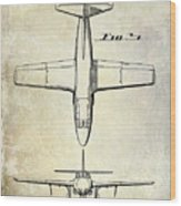 1949 Airplane Patent Drawing Wood Print
