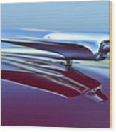 1949 Cadillac Hood Ornament Wood Print