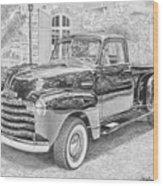1949 Chevrolet Pickup Truck Art Print Wood Print