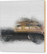 1949 Chevy Woody Wood Print