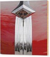 1949 Diamond T Truck Hood Ornament Wood Print