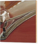 1949 Ford Custom Hood Ornament Wood Print