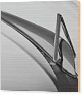 1949 Hudson Super Six  Hood Ornament -0436bw Wood Print