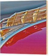 1949 Plymouth Hood Ornament Wood Print