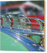 1949 Plymouth Hood Ornament Wood Print by Larry Keahey