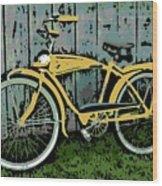 1949 Shelby Donald Duck Bike Wood Print