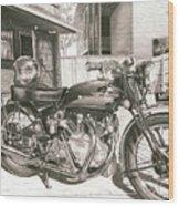 1949 Vincent Rapide Hrd Wood Print