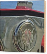 1949 Willys Jeepster Hood Ornament Wood Print