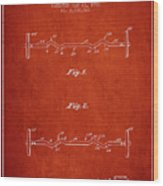 1950 Barbell Patent Spbb04_vr Wood Print