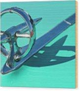 1950 Buick Hood Ornament Wood Print