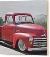 1950 Chevrolet 3100 Pickup 'show Low' II Wood Print