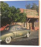 1950 Chevrolet Coupe In Front Of Portal Store Wood Print