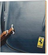 1950 Ferrari Hood Emblem Wood Print