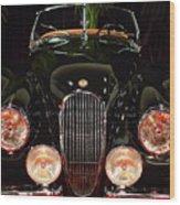 1950 Jaguar Xk120 Alloy Roadster . 7d9179 Wood Print by Wingsdomain Art and Photography
