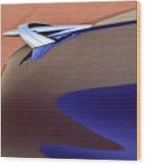 1950 Mercury Club Coupe Hood Ornament Wood Print