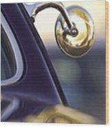 1950 Mercury Custom Lead Sled Side Mirror Wood Print