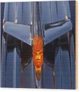 1950 Pontiac Chief Hood Ornament 2 Wood Print