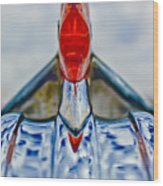 1950 Pontiac Hood Ornament 3 Wood Print