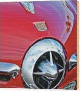 1950 Studebaker Champion Hood Ornament Wood Print