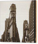 1950 Times Square New York Wood Print