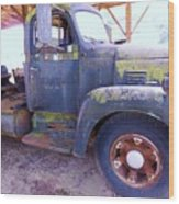 1950s International Truck Wood Print