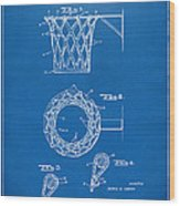 1951 Basketball Net Patent Artwork - Blueprint Wood Print by Nikki Marie Smith