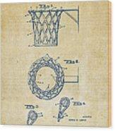 1951 Basketball Net Patent Artwork - Vintage Wood Print by Nikki Marie Smith