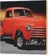 1951 Chevrolet 'gasser Style' Pickup I Wood Print