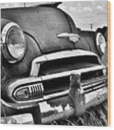 1951 Chevrolet Power Glide Black And White 3 Wood Print